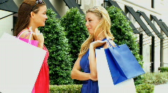 Friends Luxury Shopping 60FPS - stock footage