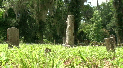 Old Florida Cemetery 2 Stock Footage