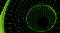Green Grid Tunnel HD Loop - stock footage