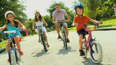 Family Cycling Fitness 60FPS Stock Footage