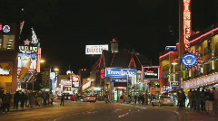 Clifton Hill. Niagara Falls, Canada. - stock footage