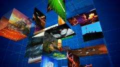 Media cube  Stock Footage