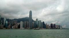 HongKong Skyline and victoria habour Stock Footage
