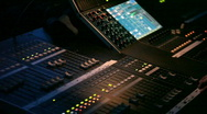 Stock Video Footage of concert mixer HD