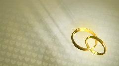 Wedding Rings HD Loop - stock footage