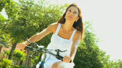 Female Cycling Fitness 60FPS Stock Footage