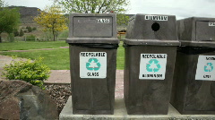 Recycling Bins Stock Footage