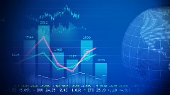 Global stock market - stock footage