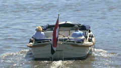 Whealthy people enjoy trip in boat Stock Footage