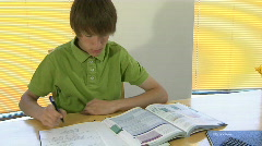 Boy studying 3 Stock Footage