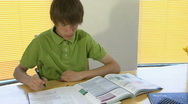 Stock Video Footage of Boy studying 3