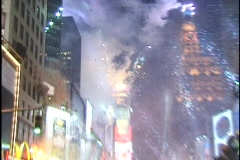 NYC New Year's Eve 2000 Ball Drop Celebration 02 Stock Footage