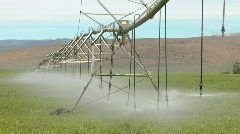 Irrigation water system moves--Timelapse 2 Stock Footage