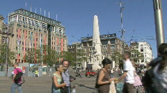 Damsquare in Amsterdam, Holland Stock Footage