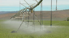 Irrigation water system moves Stock Footage