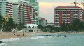 Puerto Rico - HD People at Condado La Concha Beachfront in San Juan at Sunset 2 HD Footage