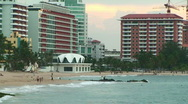 Stock Video Footage of Puerto Rico - HD People at Condado La Concha Beachfront in San Juan at Sunset 2
