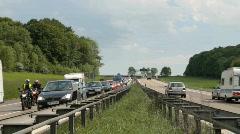 Traffic jam on Motorway Stock Footage