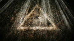 all seeing  eye - stock footage
