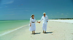 Seniors Beach Lifestyle 60FPS Stock Footage