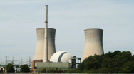 Stock Video Footage of Nuclear power station Grafenrheinfeld