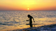 Girl in water Stock Footage