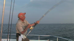 Saltwater Fishing Fisherman - stock footage