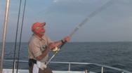 Saltwater Fishing Fisherman Stock Footage