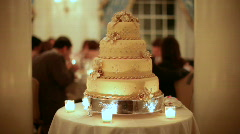 Golden wedding cake center Stock Footage