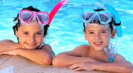 Children Fun Swimming Lifestyle 60 FPS Stock Footage