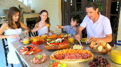 Family Healthy Meal Choice  60FPS Stock Footage