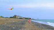 Stock Video Footage of Girl with a kite