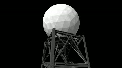Weather Radar Tower Stock Footage