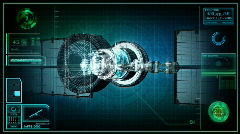 Military spy satellite. Stock Footage