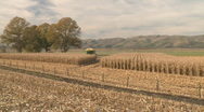 Stock Video Footage of corn harvest rows in time lapse