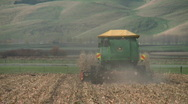Behind corn harvester Stock Footage
