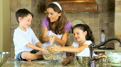 Family Cooking Time - stock footage