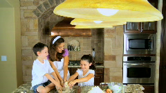 Family Home Cooking - stock footage