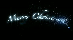 Merry Christmas.Inscription on the black background Stock Footage