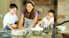 Family Fun Cooking - stock footage
