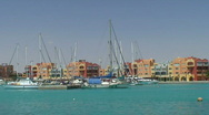 Stock Video Footage of Sailing boats in sunny harbour