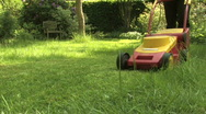 Mowing the lawn Stock Footage