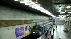 Underground station. Train arrival Stock Footage