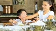 Children Cooking Time Stock Footage
