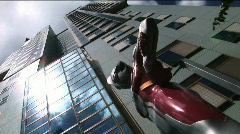 TBS Building and Ultra Seven statue. It is TV series that aired on Japanese TV Stock Footage