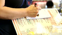 Waitress taking order - stock footage