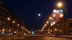Madrid.Traffic circle timelapse. Cuatro Caminos Stock Footage