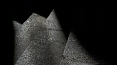 Light on stone stairs Stock Footage