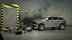 Car crash test  - stock footage
