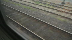 Train tracks. - stock footage